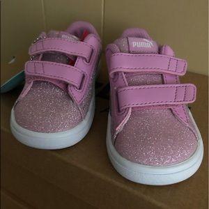 PUMA, Baby Sneakers Low SMASH V2 für Mädchen, nude